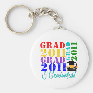 Grad Class of 2011 Basic Round Button Key Ring
