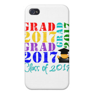 Grad Class of 2017 Covers For iPhone 4