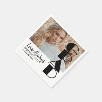 Grad - Class of 20XX - DIY Photo Paper Napkin