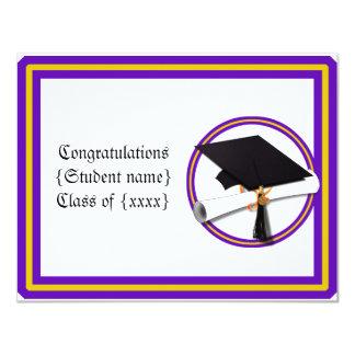 Grad Diploma School Colours Purple and Gold Card