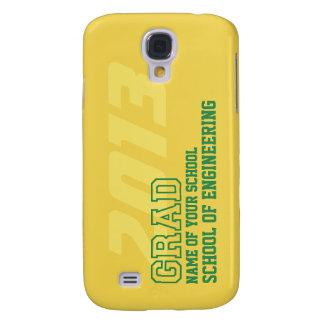 GRAD green yellow gold school year name graduation Galaxy S4 Case