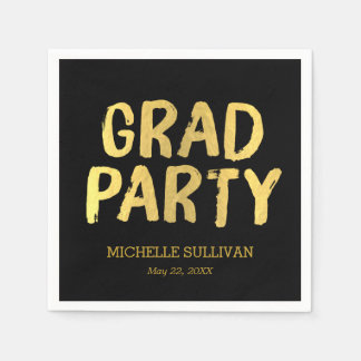 Grad Party Editable Color Graduation Napkins Paper Napkins