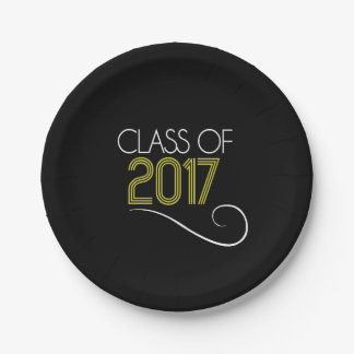 Grad Party Plate - 2017 7 Inch Paper Plate