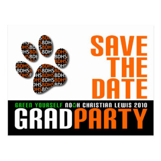 Grad Party Save the Date Postcard