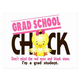 Grad School Chick 2 Post Card