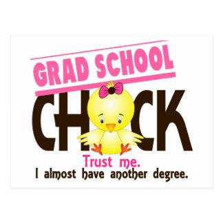 Grad School Chick 3 Post Card