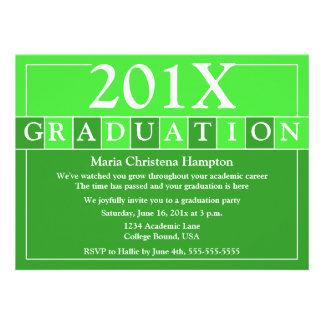 Grad Tiles Invitation Green