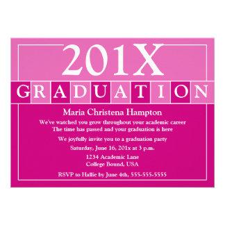 Grad Tiles Invitation Pink