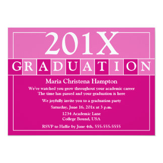 Grad Tiles Invitation (Pink)