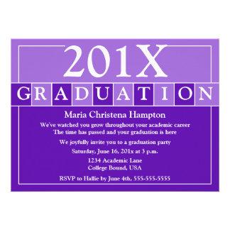 Grad Tiles Invitation Purple
