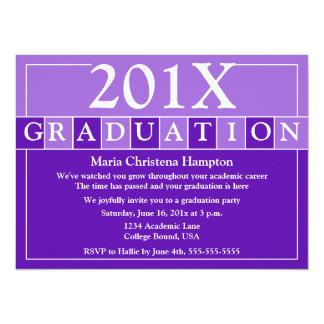 Grad Tiles Invitation (Purple)