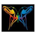 Gradated Butterfly Poster