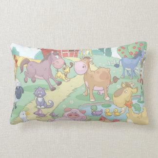 Grade A Cotton Throw Pillow/Cartoon Farm Animals Throw Cushion