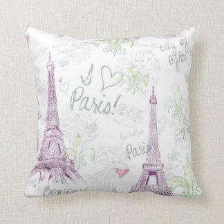Grade A Cotton Throw Pillow/Paris Throw Cushion