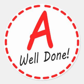 Grade A Well Done Sticker