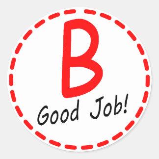 Grade B Good Job Sticker