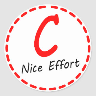 Grade C...Nice Effort Stickers