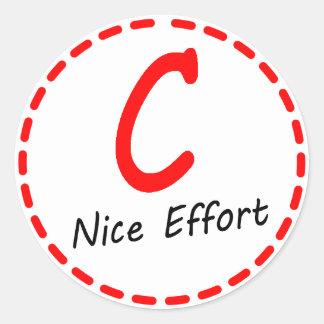 Grade C Nice Effort Stickers