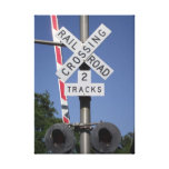Grade Crossing Gallery Wrapped Canvas