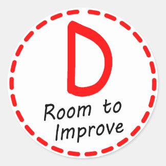 Grade D sticker Room to Improve