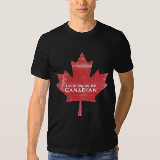 Grade EH Canadian Man Meat Maple Leaf  Design Tee Shirts