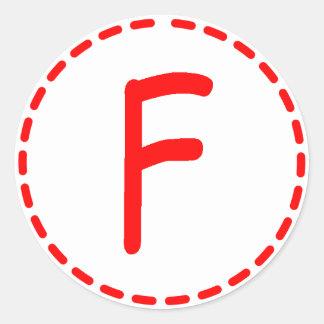 Grade F Sticker