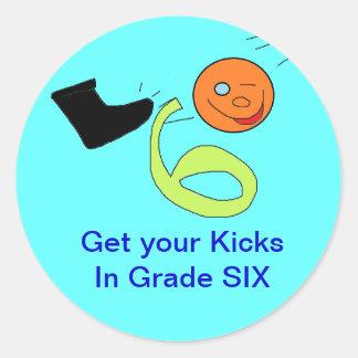 Grade SIX stickers