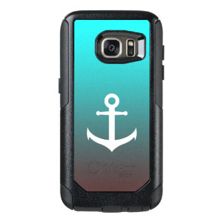 Gradient aqua red | white anchor OtterBox samsung galaxy s7 case