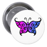 Gradient Bisexual Butterfly 7.5 Cm Round Badge