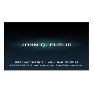 Gradient Black Dark Blue Business Card