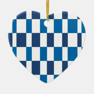 Gradient Blue Ceramic Heart Decoration