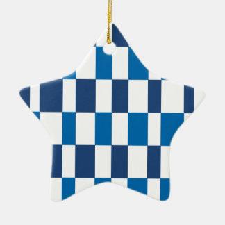 Gradient Blue Ceramic Star Decoration