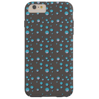 Gradient Blue Dots on Gray Cell Phone Case