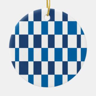Gradient Blue Round Ceramic Decoration