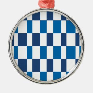 Gradient Blue Silver-Colored Round Decoration