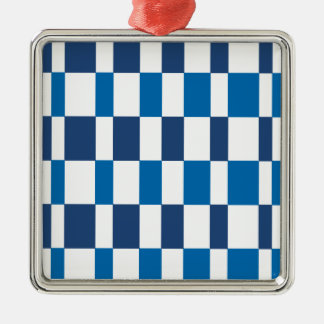 Gradient Blue Silver-Colored Square Decoration