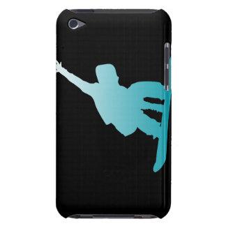 gradient blue snowboarder iPod Case-Mate case