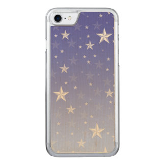 Gradient blue white stars pattern carved iPhone 8/7 case