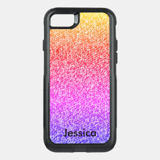 Gradient Colors Personalized Girly Name OtterBox Commuter iPhone 8/7 Case