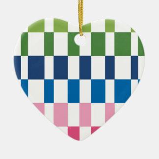 gradient colours ceramic heart decoration