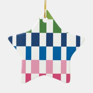 gradient colours ceramic star decoration