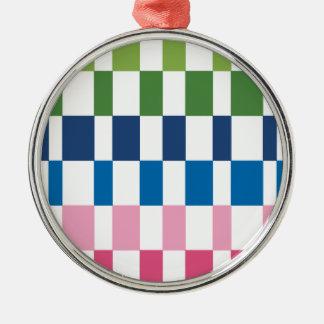 gradient colours Silver-Colored round decoration