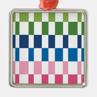 gradient colours Silver-Colored square decoration