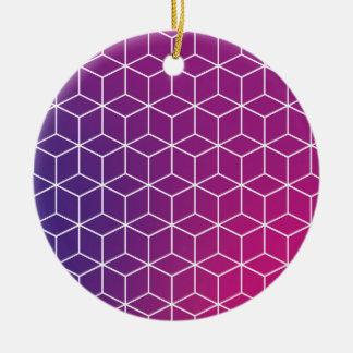 Gradient Cube Pattern on Ornament