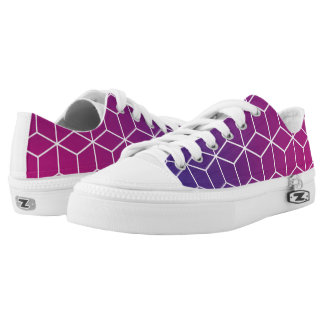 Gradient Cube Pattern on Shoes