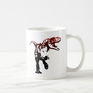 Gradient Dino Basic White Mug
