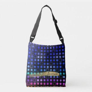 Gradient Dots and Circles Custom Cross Body Bag
