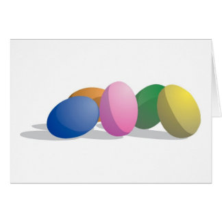 Gradient Easter Eggs Card