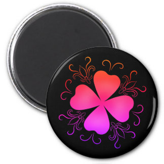 Gradient girly shamrock magnet