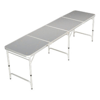 Gradient Gold Stars over Faux Silver Metal Pong Table